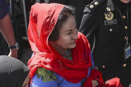 Rosmah arrives for questioning at MACC