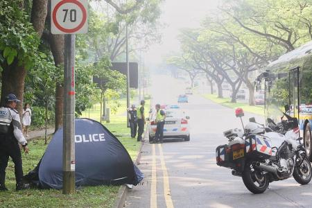 Motorcyclist dies in Upper Jurong Road accident