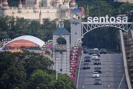 Business as usual at Sentosa during summit