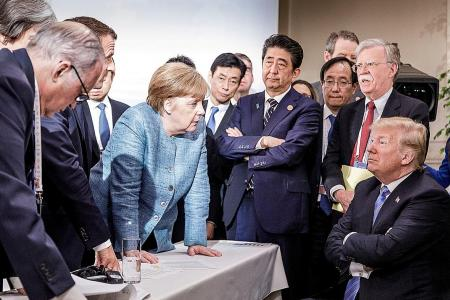 Trump says everyone was actually very friendly in G7 viral photo