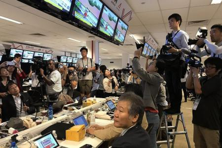 Excitement among reporters covering Trump-Kim summit