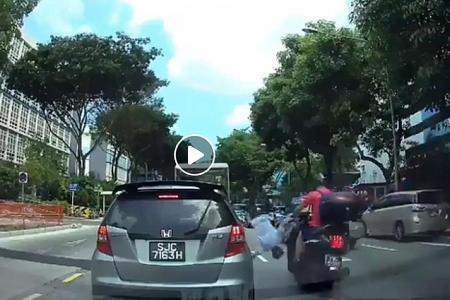 Jaywalker hit by motorbike