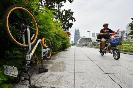 Town councils will discard abandoned oBikes