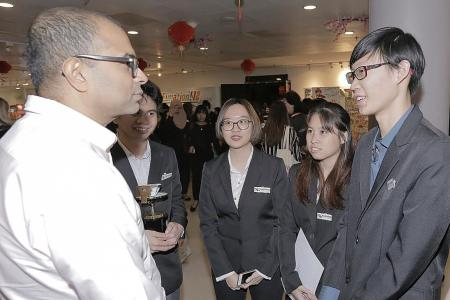 Poly students string together tale of Total Defence
