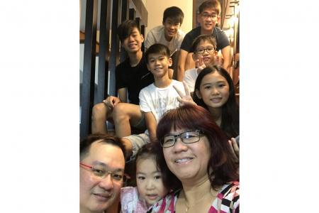 Seven kids challenging but 'a joy'