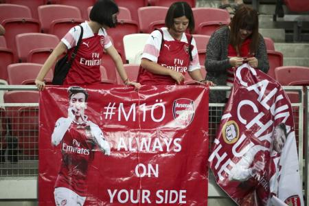 So much love: Oezil thanks Arsenal fans in Singapore
