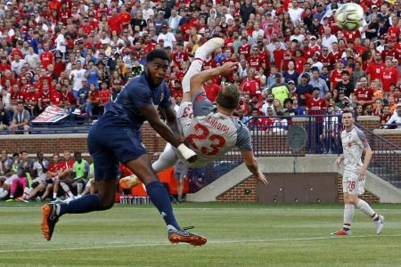 Shaqiri scores stunner on Liverpool debut