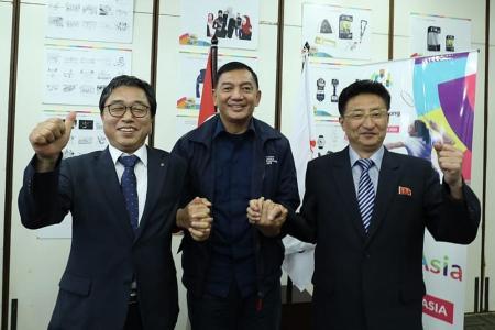 Joint Korean teams start training for Asian Games