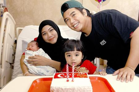 Second National Day baby for couple