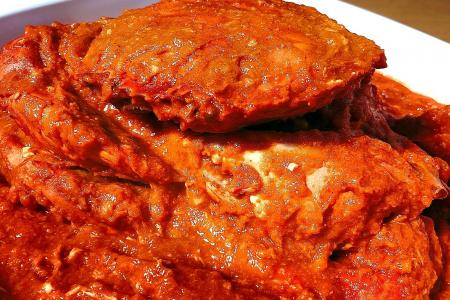 S'pore chilli crab 17th on Lonely Planet's best food experiences