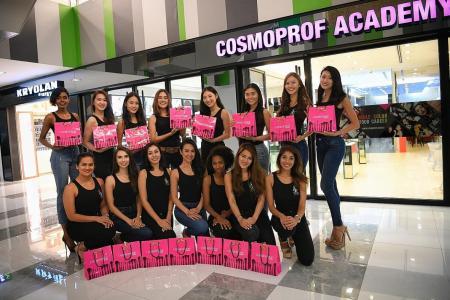Cosmoprof workshop raises eyebrow game of MUS 2018 finalists