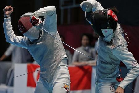 Singapore's first fencing team medal in Asiad
