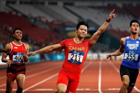 Su fast! Chinese sprinter claims Asian crown