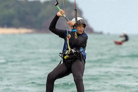 Boy, 11, making waves as one of S'pore's youngest kiteboarders