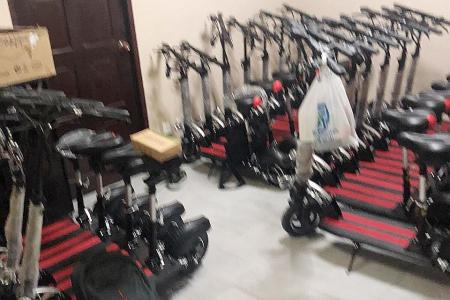 More than 40 e-scooters stored in Yishun flat