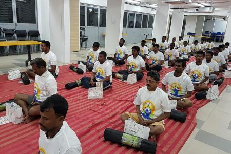 Dormitory provides yoga classes and trips for workers