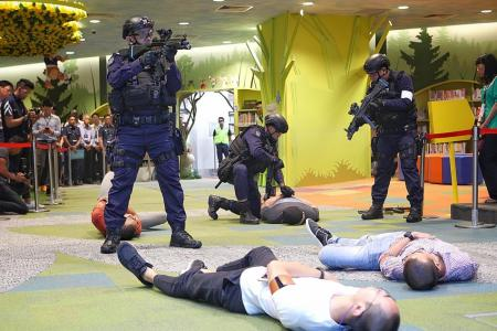 National Library attacked by terrorists in Exercise Heartbeat