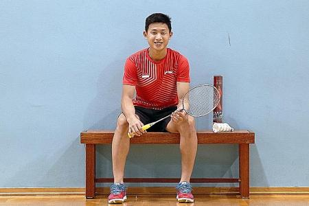 Joel puts badminton ahead of his studies