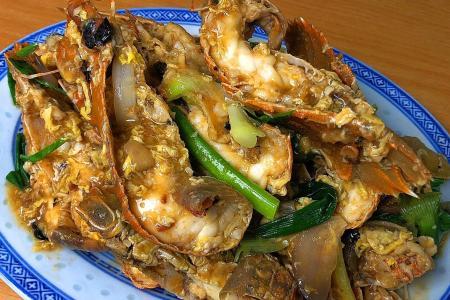 Slipper lobsters in fermented black bean sauce