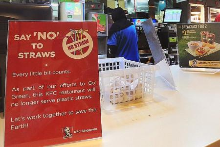 KFC investigating claim that outlet breached 'no plastic straws' rule