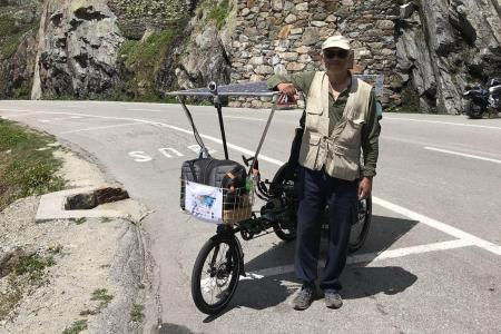 S'porean travels across 12 countries on e-bike built by his company