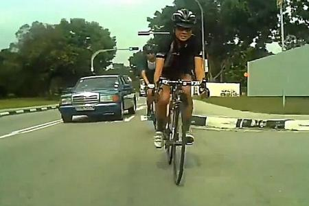Mercedes driver caught on camera allegedly harassing cyclist