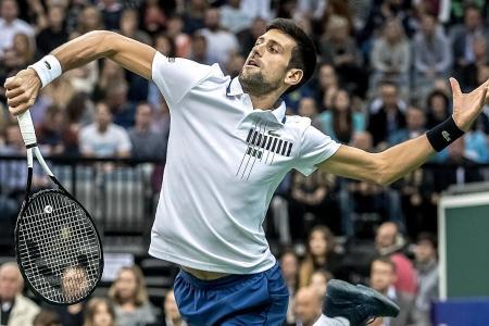 Djokovic eyes No. 1 at Paris Masters