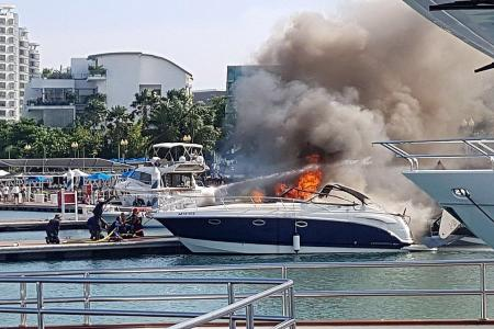 ONE°15 Marina Club staff who fought yacht fire lauded for bravery
