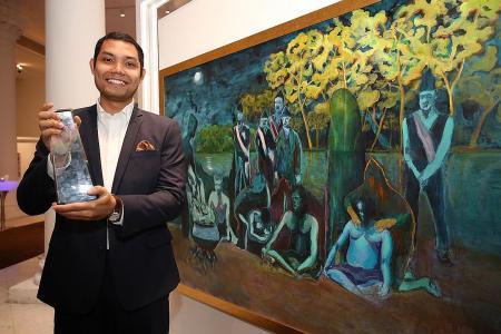 Indonesian artist clinches regional art award