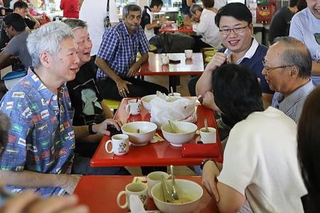 Breakfast meeting for Tan Cheng Bock, Lee Hsien Yang