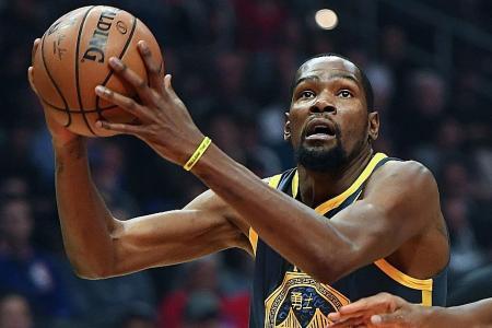 Durant scores season-high 44 as Warriors edge out Kings