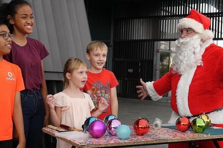 Happy holidays at Sports Hub