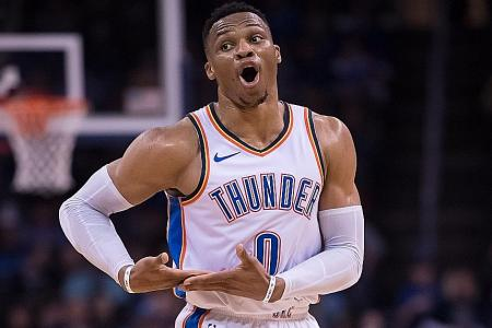 Another milestone for Westbrook in Thunder win