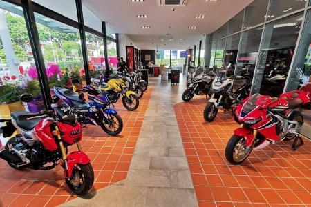 Ride into the new Honda motorcycle showroom at Alexandra