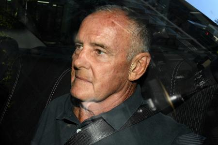 Chris Dawson arrives at arrives the Sydney Police Centre, after being extradited from the Gold Coast, in Sydney, Australia, 06 December 2018.