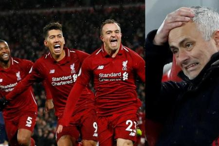 Mourinho concedes Man United incapable of living with Liverpool