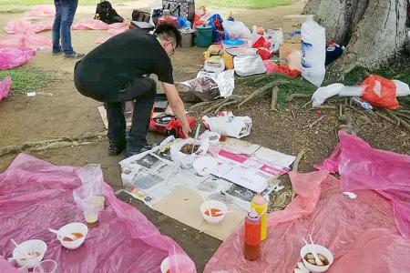NEA takes action against illegal hawkers at Paya Lebar