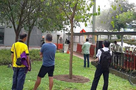 Fire at Jean Yip Loft, one man taken to hospital