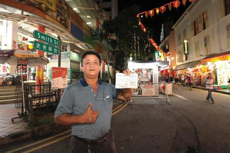 Stall at Chinatown bazaar goes for $13,899, highest in six years