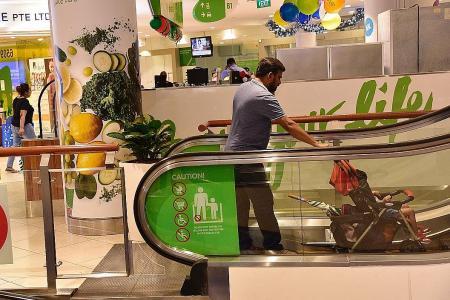 BCA to reduce prams on escalators
