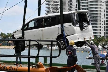 Drug user who drove MPV into waters off Sentosa jailed