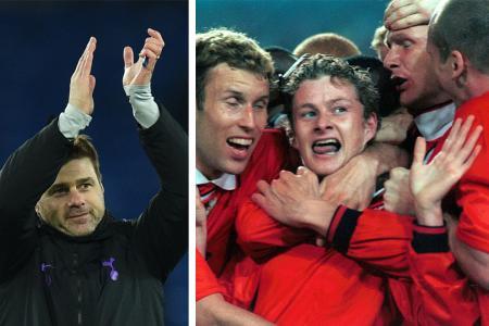 Pochettino recalls cheering after Solskjaer scored winner