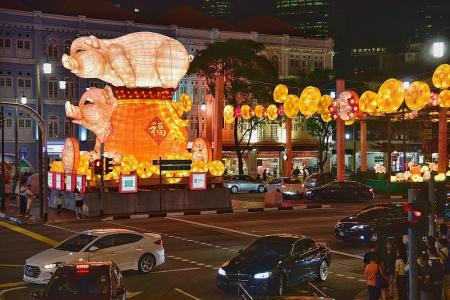 Chinatown pig lanterns mocked by netizens to be lit as planned