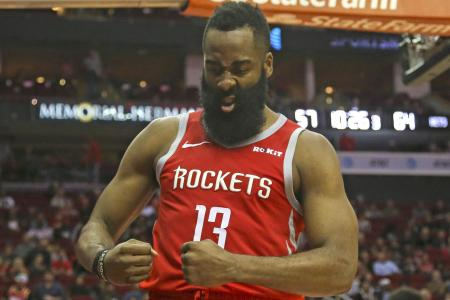 Harden scores 58,  but Houston lose in overtime