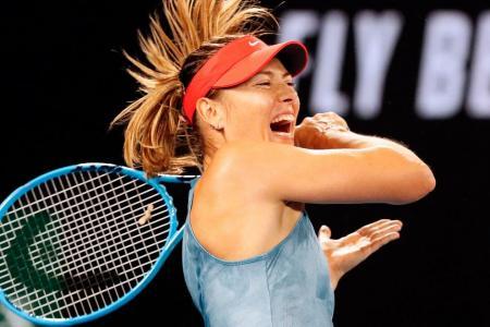 Sharapova stuns defending champion Wozniacki