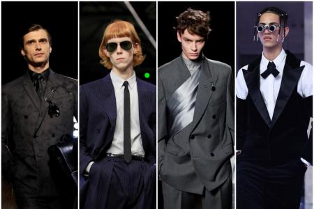 Men in suits storm back into style