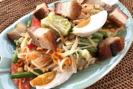 Enjoy a taste of Thailand this CNY with som tam moo krob