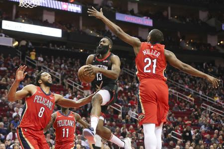 Rockets rocked by patched-up Pelicans