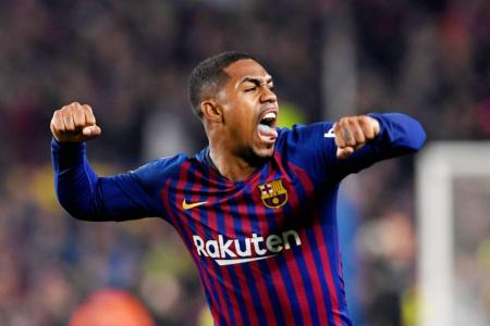 Malcom scores to Barca's relief in Copa del Rey semis