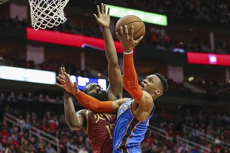 Harden, Westbrook extend hot streaks